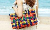 Wholesale Knitted Shoulder Bag Beach Bag Handmade Multi Color New Arrival B9