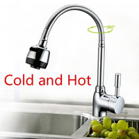Wholesale Freeshipping classic kitchen cozinha Chromed single lever single hole swivel hot and cold kitchen faucet mixer torneira