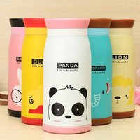 Wholesale 350ml Thermos Mug Insulated Tumbler Travel Cups Stainless Steel Thermo Vacuum Cup Flasks for Office Cartoon Animal Pattern