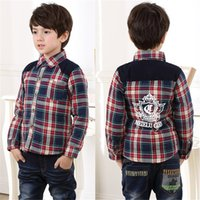 Wholesale Korean Baby Button Plaid Shirts Cloth Boy Winter Clothes Winter Protection Kids Princess Outerwear Coat Clothes Children Clothing Hot Sale