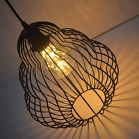 Wholesale Vintage Iron lampshade gourd multilayer models LED decorative lights create a romantic atmosphere suitablefor restaurants and bars cafes tea