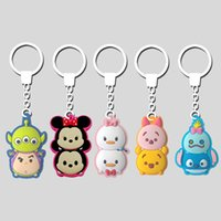 Wholesale 2015 new comming tsum tsum keychain children key pvc material cartoon keychain style mixed