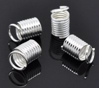 Wholesale Jewelry Findings Silver Plated Coil End Crimp Fasteners x5mm