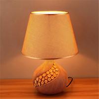 bedside table lamp shades - Modern Ceramics Desk Lamp Creative Table Lamp Living Room Children room Bedside Ceramics Table Lamps Fabric Lamp Shade Table Lights