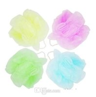 Wholesale Mesh Pouf Sponge Bathing Spa Shower Scrubber Ball Colorful Bath Brushes Sponges