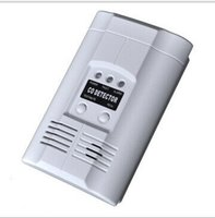 Wholesale Sensitivity LPG LNG Coal Natural Wireless Security Smoke Gas Leak CO Detector Alarm Sensor White