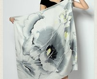 hand painted silk scarf - Ms Spring counter genuine hand painted silk scarf large Hangzhou Silk silk scarf