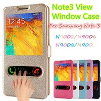 Cheap Top Quality Galaxy Note3 View Window Flip Luxury Pu Leather Case For Samsung Galaxy Note 3 III N9000 Cover Phone Bags Cases
