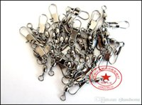 Wholesale Connector Fishing swivel with snaps fishing tackle stainless steel fishing gear connector rolling swivel Fishing Accessories