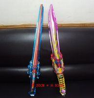 balloon sword - Toys Foil Balloon Aluminum Sword Balloon Blow Stick Refuels Stick Drop Shipping PQ0027