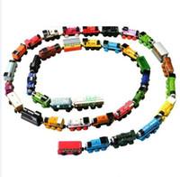 al por mayor trenes thomas-Envío Gratis NUEVO Thomas Locomotora Los trenes de juguete de madera magnéticos Puzzle Fun Kids Toys El Childs regalo 500pcs / lot