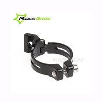 Wholesale ROCKBROS MTB Seat Post Road Bike mm Front Derailleur Braze on Adapter Clamp Black Compatible mm mm Bicycle Parts