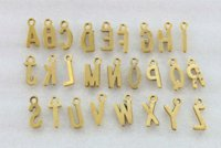 antiqued white - 78PCS Assorted Antiqued gold plate alphabet letter charms charms gold charm bracelet white gold