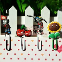 Wholesale Office Supplies Bookmarks Plants VS Zombies cartoon Favorites Bookmark for book books Clips students Book holder
