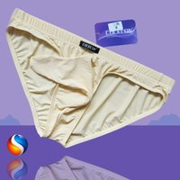 Wholesale New Men s Sexy Underwear The Bullet Gun Egg Separation U Convex Sexy Man Transparent Underwear JJ Set of Silk Elephant Briefs