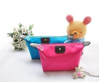 Wholesale 11 colors Large Size Hot New Women senior waterproof nylon candy Lady s cosmetic makeup organizer bag Christmas Gift