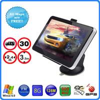 Wholesale 7 inch Car GPS Navigation HD LCD Screen Window CE MHZ FM GB D IGO Primo Truck Maps