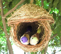 Wholesale rattan bird cages home garden decoration pet supplies birds home birds supplies