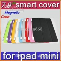 Cheap CHeap Hot DHL 300pcs Smart Magnetic Cover Case for Apple iPad mini 7.9''PC Stander Sleep Wake UP PTA-A