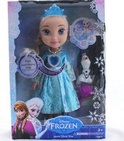 Wholesale FROZEN ELSA SNOW GLOW DOLL PRINCESS ACTUAL PICTURE MUSICAL SINGING TALKING LET IT GO with LED light FREE FEDEX DHl EMS