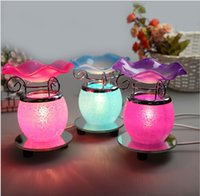 Wholesale Crystal Grape Glass Fragrance Lamp Plugged Induction Furnace Aromatherapy Oils Aromatherapy Incense Burners Bedside table lamp