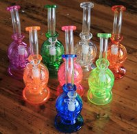 Wholesale New colors fab Egg Glass Bongs Water Pipes Recycler Percolators Hookah Faberge Egg Water pipe with birdcage perc mm