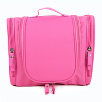 Polyester bag for toiletries - 100 Brand New Women And Men Hanging Toiletries Bag Multi Pockets Zippers Perfect for Cosmetics Travel Home Use
