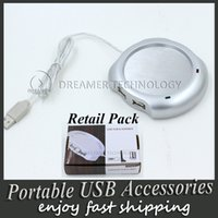 Wholesale Epacket Free USB Ports Hub Warm Coffee Cup Warmer Gadget Heater for Computer