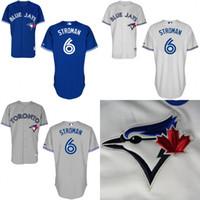 xxxl size - 2016 Toronto Blue Jays Jersey Marcus Stroman Jersey White Grey Blue Cool Stitched Baseball Jersey Embroidery Logo size S XL