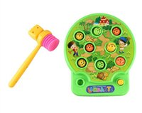 baby moles - Develop respond ability toy Whack Mole Hamster Attack Hit Mole Electronic Baby Kids whack a mole Game knock on animal head toys