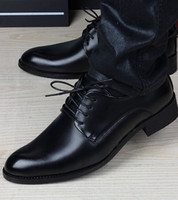 Men athletic dress shoes - 2016 Italian Brand Men s Black Dress Shoes Leather Casual Athletic Walking Office Size