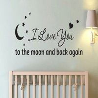 baby love quote - The Best Quality DIY I love You to Moon Wall Sticker Quote Decal Removable Baby Room Art Decor
