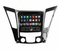 Wholesale HD din quot Android Car DVD GPS Navigation for HYUNDAI SONATA With G WIFI Bluetooth IPOD Radio TV USB AUX IN
