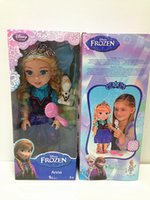 Wholesale Newest Queen Elsa Princess Anna Dolls Inch Best Girls Gift Toy Frozen Doll Creative Music Doll Anna or Elsa