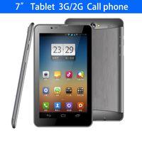 7 pouces écran capacitif téléphone 3G appeler fente pour carte SIM / Tablet PC MTK6572 Dual Core Android 4.2 512M 4GB GSM WCDMA double caméra