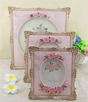 Wholesale Korean Rural Europe Type Restoring Ancient Ways Is Embossed Roses Photos Table Setting Resin Photo Frame Custom Made Wedding Display Pictur
