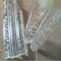 Wholesale THZ acrylic clear rods with bubbles inside of OD50mm x mm PMMA plastic rod can be used for leds