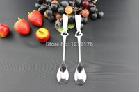 Wholesale ON SALE Curved Tea Coffee Drink Spoons kitchen utensils a laser marking with your design and artwork free customized