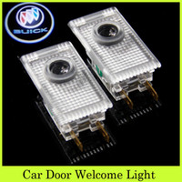 Wholesale 2pcs Set LED Car Door Projectors Light Welcome Courtesy Car Door Modify Shadow Ghost Lamps Auto Logo Projector For Fit Buick Rega