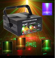 mini laser light show - LED Laser Stage Lighting Lens Patterns RG Mini Led Laser Projector W Blue Light Effect Show For DJ Disco Party Lights