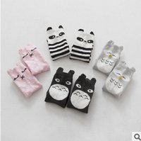 Wholesale 2015 animal baby socks infant socks girls knee high long socks leg warmers Anti slip kids socks Totoro panda tights for children years
