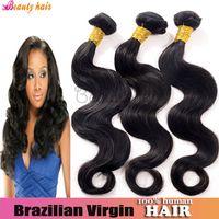 Body Wave brazilian hair bulk - Best Selling Body Wave Brazilian Virgin Bulk Hair Double Weft Mixed Size Bundles g pc Real Natural Human Hair Weaving