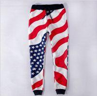 american flag print pants - New Emoji Jogger Pants Women Men Girl Boy Jogging Sweatpants D print American flag Sport Running Fleece ThickenTrousers