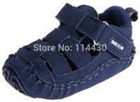 bebe shops - piece drop shopping Blue Leather Baby boys sandals toddler Clogs Bebe first walkers age M