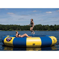Wholesale water trampoline M M M diameter PVC water jumping bed toy playing on the water summer inflatable toys