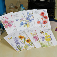 beautiful friendship cards - 6 sets of multi purpose beautiful flower greeting cards for friendship teacher family lover