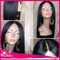 lace wigs for african american - Italian Yaki African American Wig Glueless Brazilian Virgin Remy Human Hair yaki Straight Lace Front Wigs full lace wig For Black Women