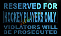 advertising player - LN743 TM Reserved for Hockey Players only Neon Light Sign Advertising led panel jpg