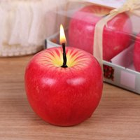 apple shaped boxes - Top Selling PC Christmas Red Apple Shape Well Fruit Scented Candle Home Decoration Greet Gift Box L024