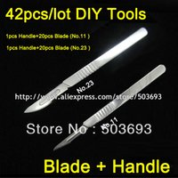Wholesale Free Ship No and No Medical Scalpel Opening Repair Tools Knife for Disposable Sterile Mobile Phone Beauty DIY